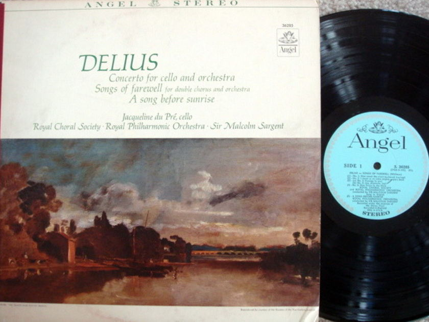 EMI Angel Blue / DU PRE-SARGENT, - Delius Cello Concerto, MINT!