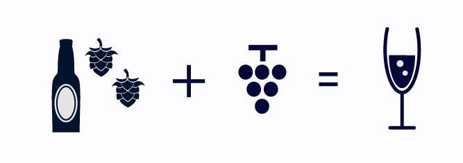 スパークリングワインの作り方イラスト