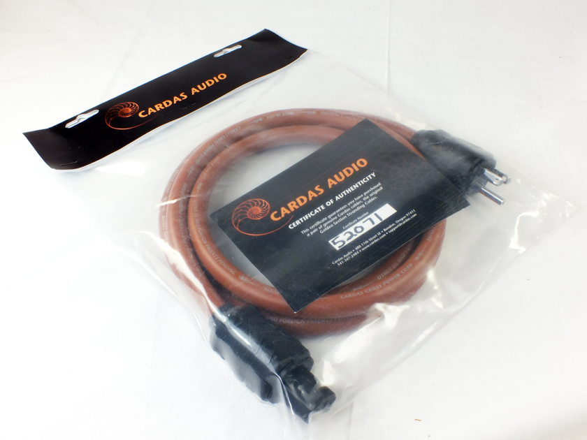 "CARDAS AUDIO Cross ""legacy/discontinued"" AC Power Cord (2 Mtr) - Certificate of Authenticity; New-in-Bag; 50% Off Retail"