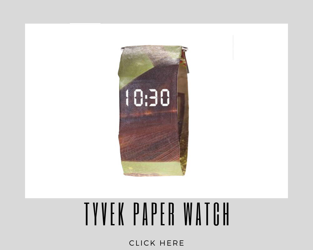 Giveaways Promotional Tyvek Paper Watch