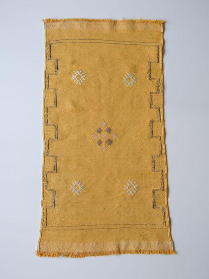 Марроканский ковер из шелка агавы Yellow