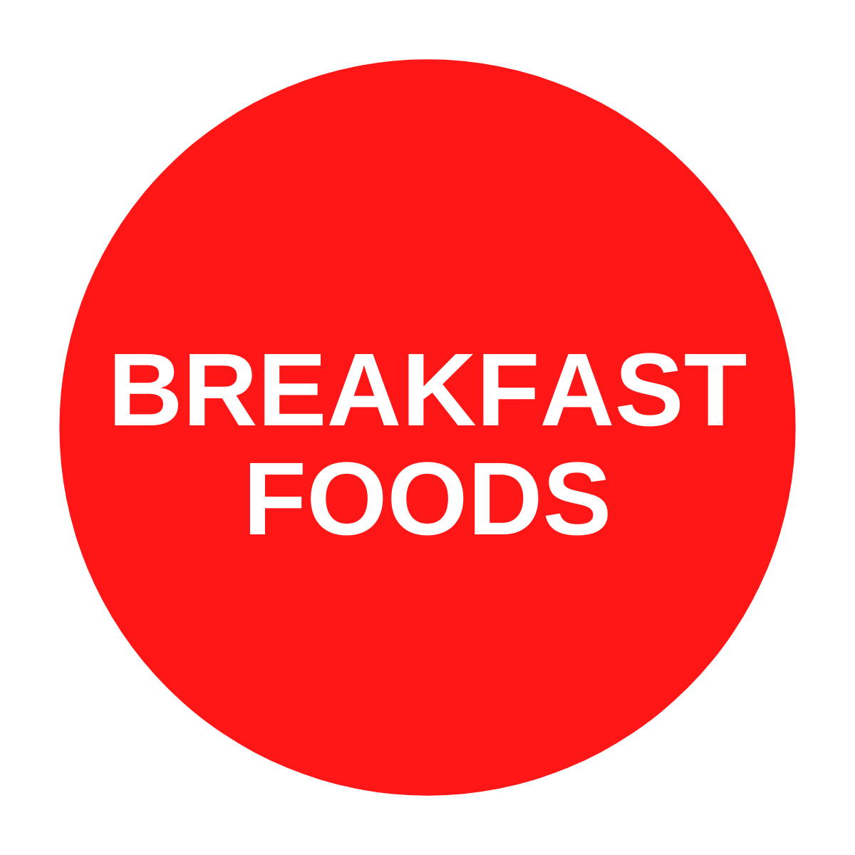 Red breakfast foods icon