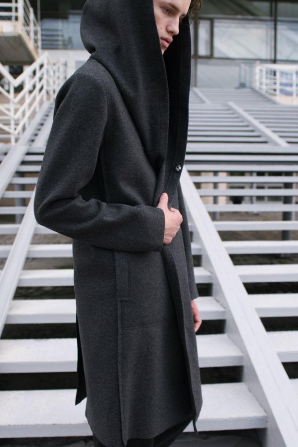Мягкое пальто с Капюшоном и внутренним жилетом #35
