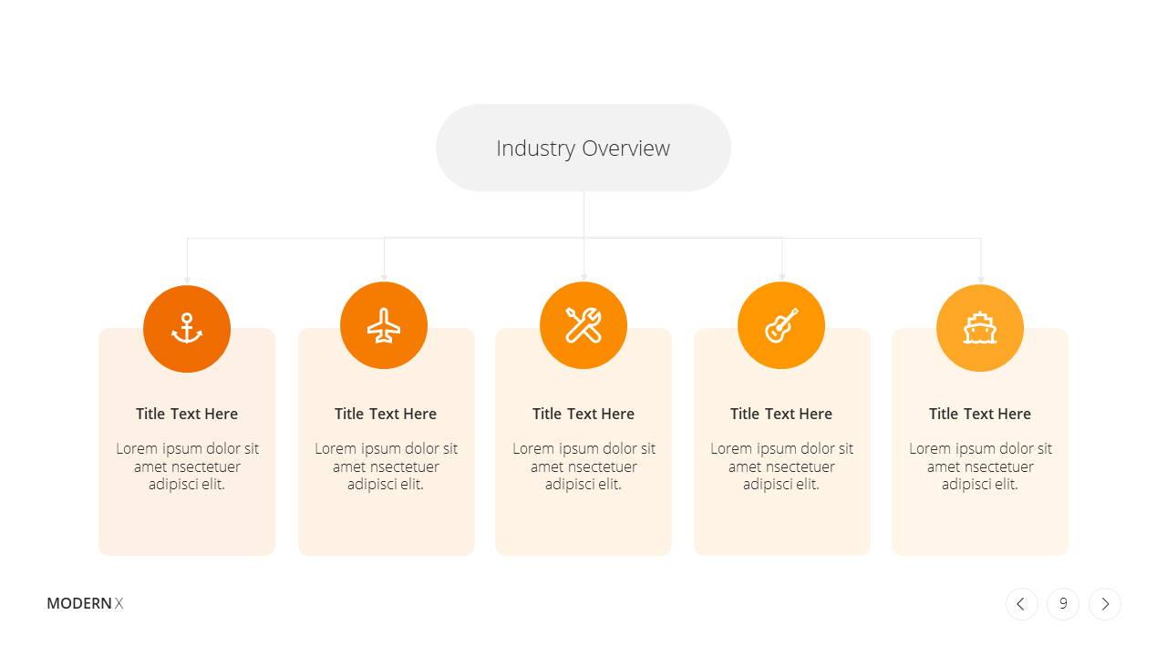 Modern X Presentation Template Business Plan Industry Overview