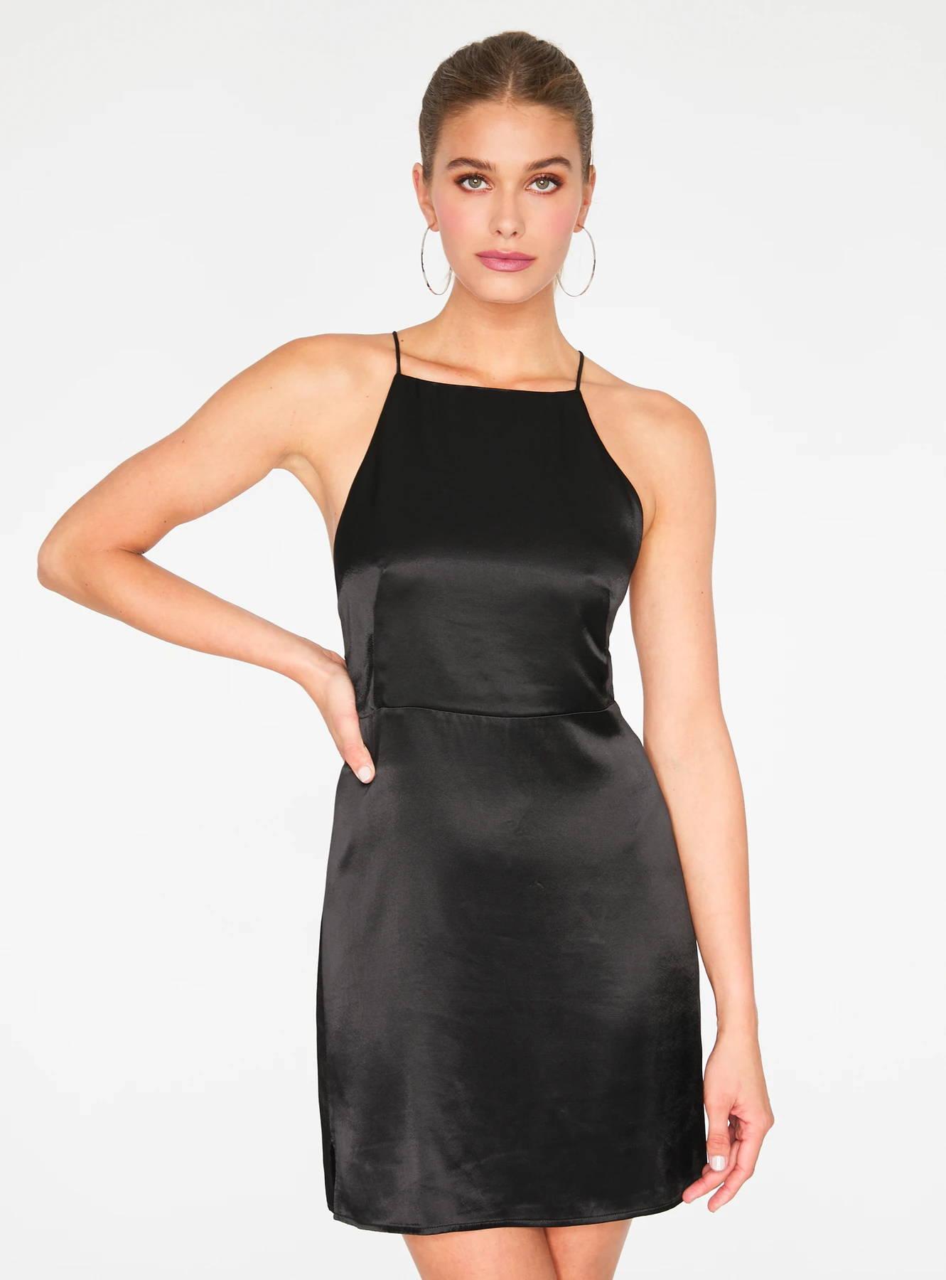 Black Apron Mini Dress