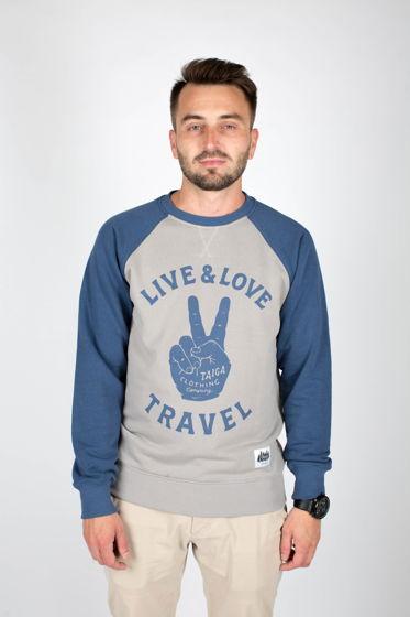 ТОЛСТОВКА МУЖСКАЯ: LIVE.LOVE.TRAVEL