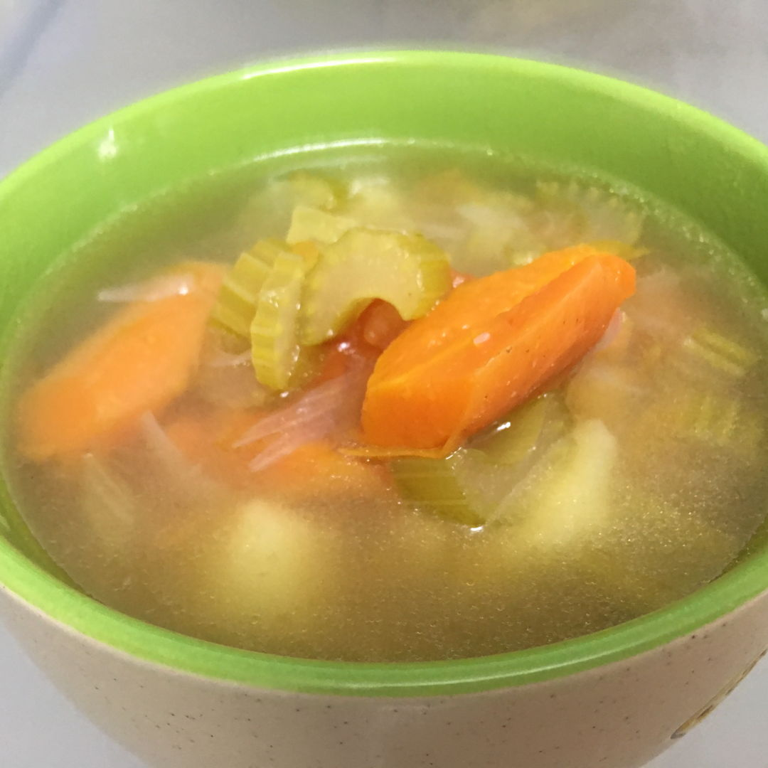 Abc soup with celery. Great taste.