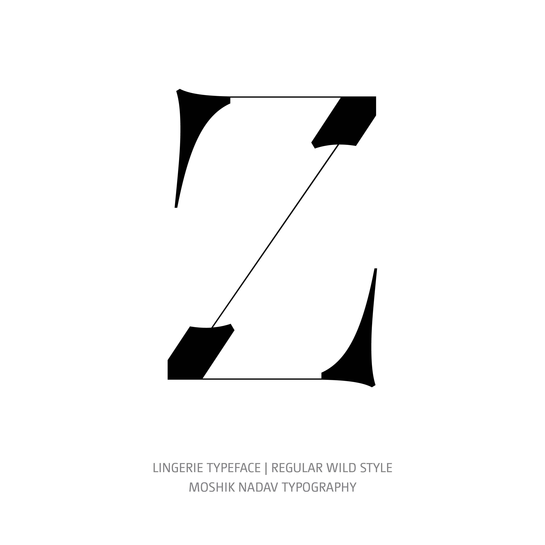 Lingerie Typeface Regular Wild Z
