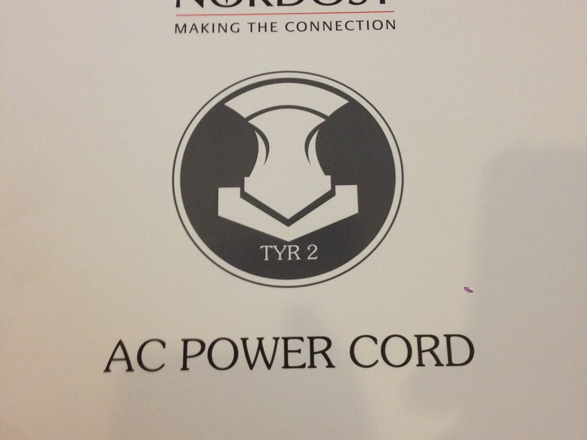 Nordost Tyr 2 Power Cord 2m US Plug Mint condition for sale reduced!!