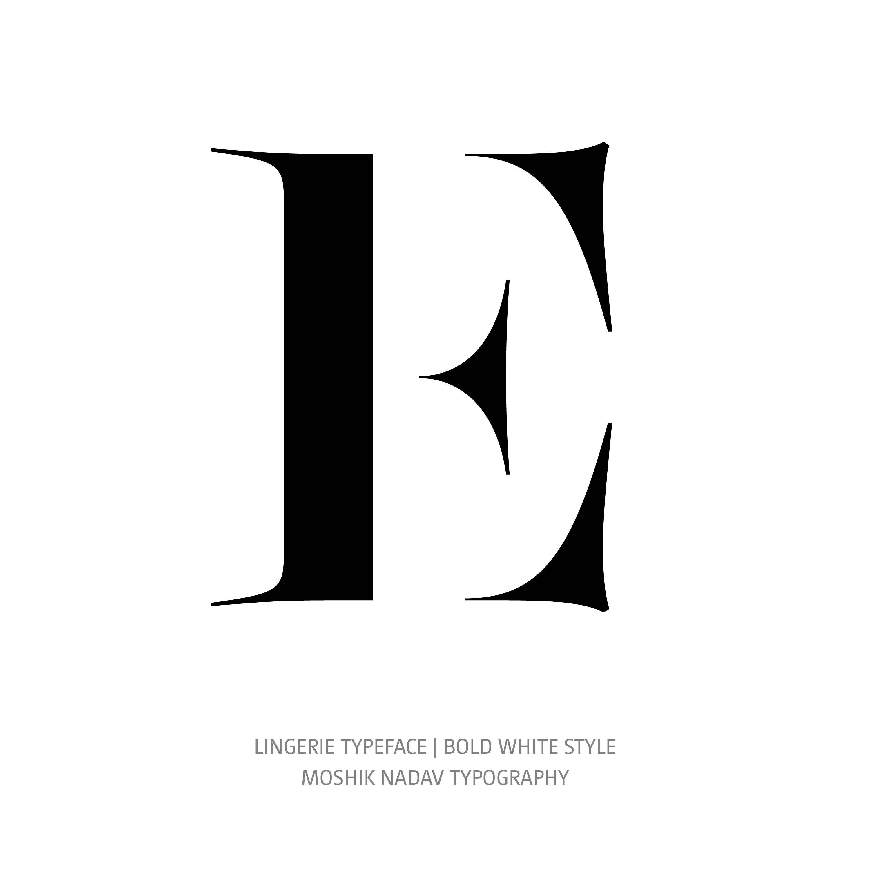 Lingerie Typeface Bold White E