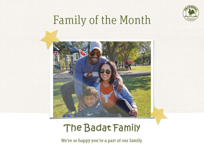 Family of the Month, Badat Family