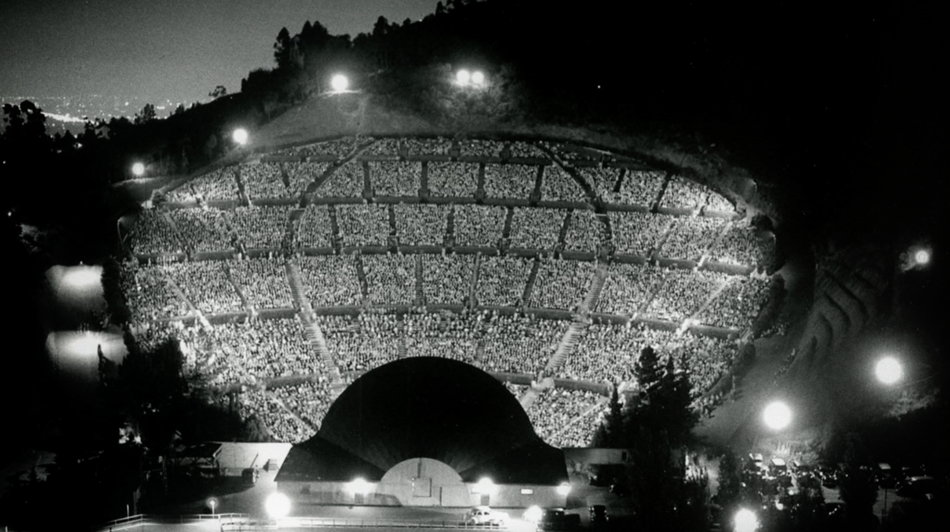 The Hollywood Bowl in the 1940s.