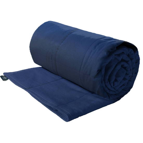 Cotton weighted blanket for a large dog