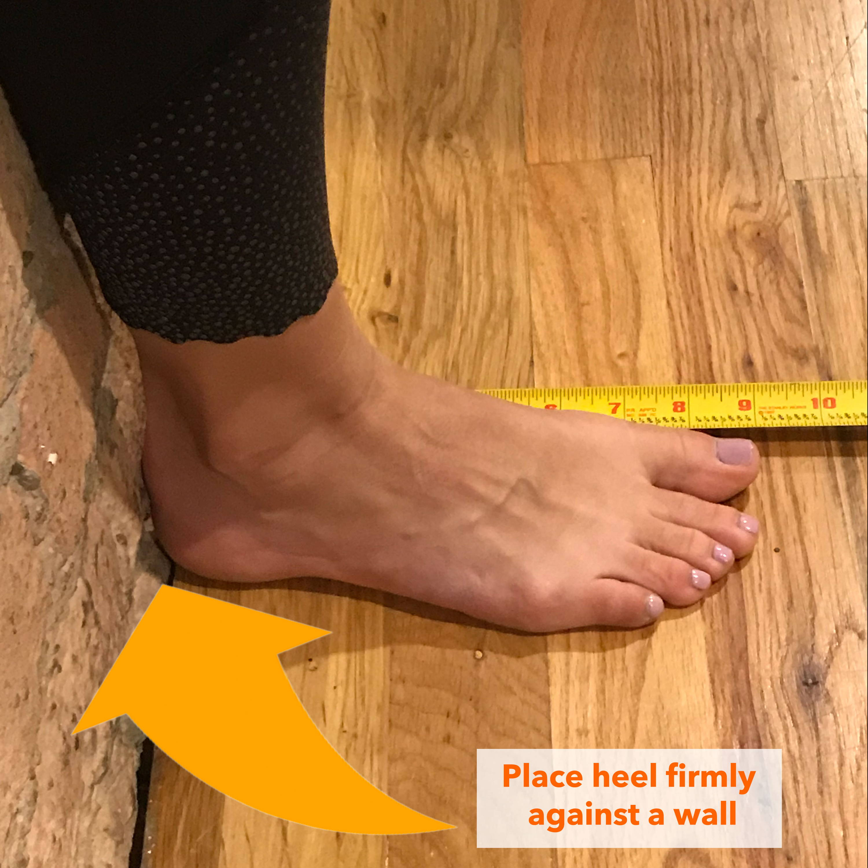 How to measure your foot from home step 1