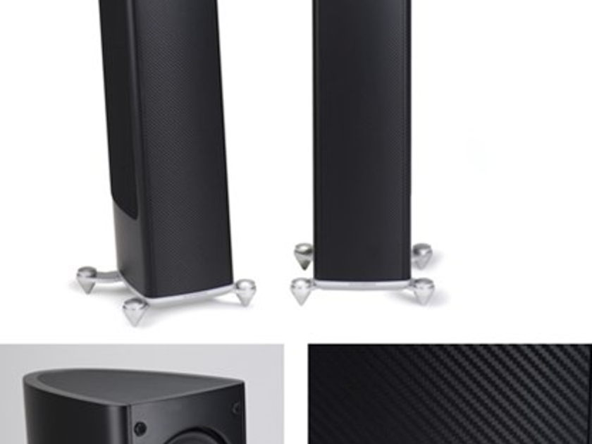 Scansonic MB 3.5 Speakers White W/Matching Stands