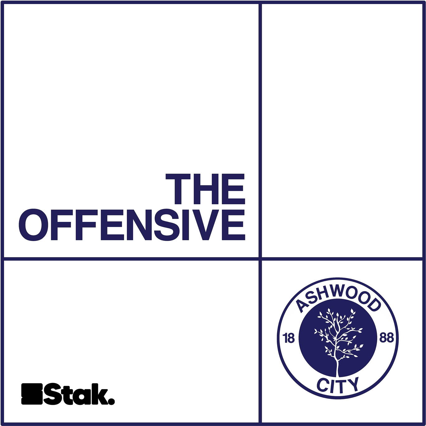 The artwork for the The Offensive podcast.