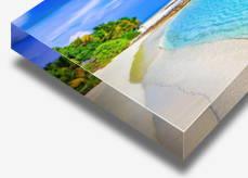 Acrylic photo block print sample