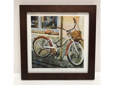 Charleston Bike Watercolor Art