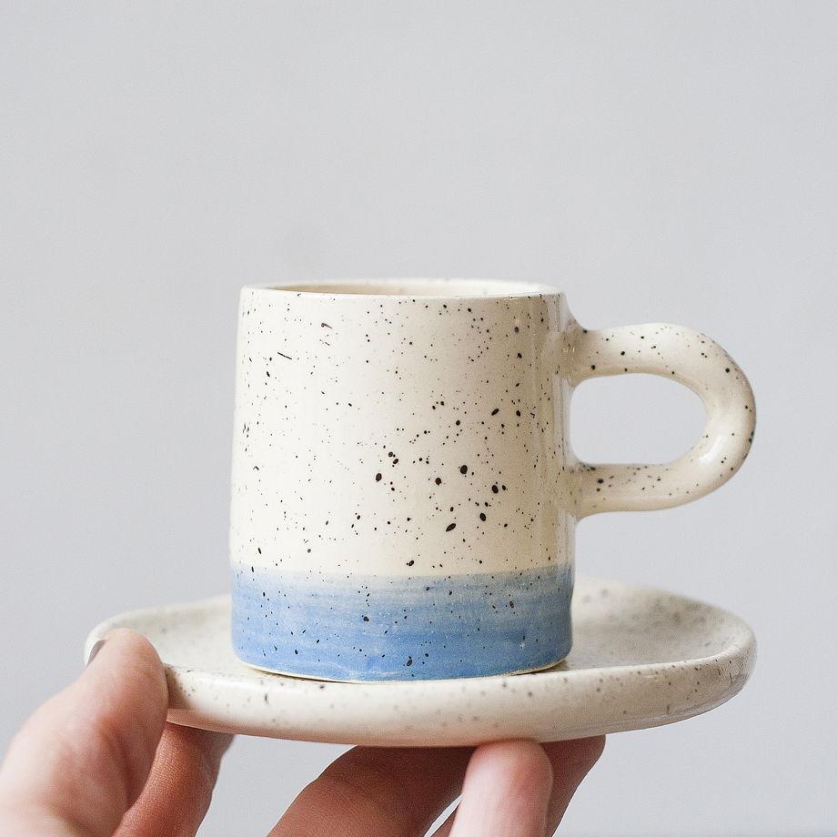 Чашечка для эспрессо с блюдцем «Перепелка»