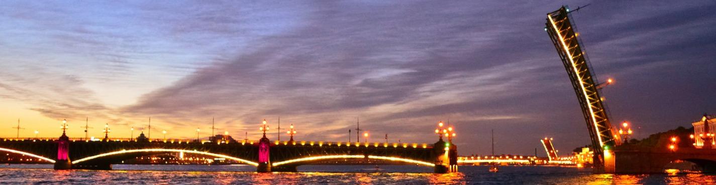 Разводка мостов с крыши: Литейный мост