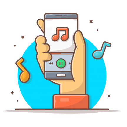 Online music player with hand tune note music icon playing mobile music 138676 537 removebg preview