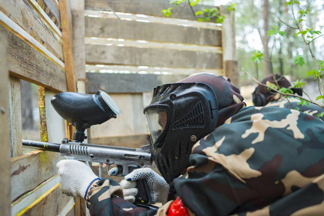 Paintball game, 2 hours