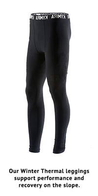 Our Winter Thermal leggings support performance and recovery on the slope.