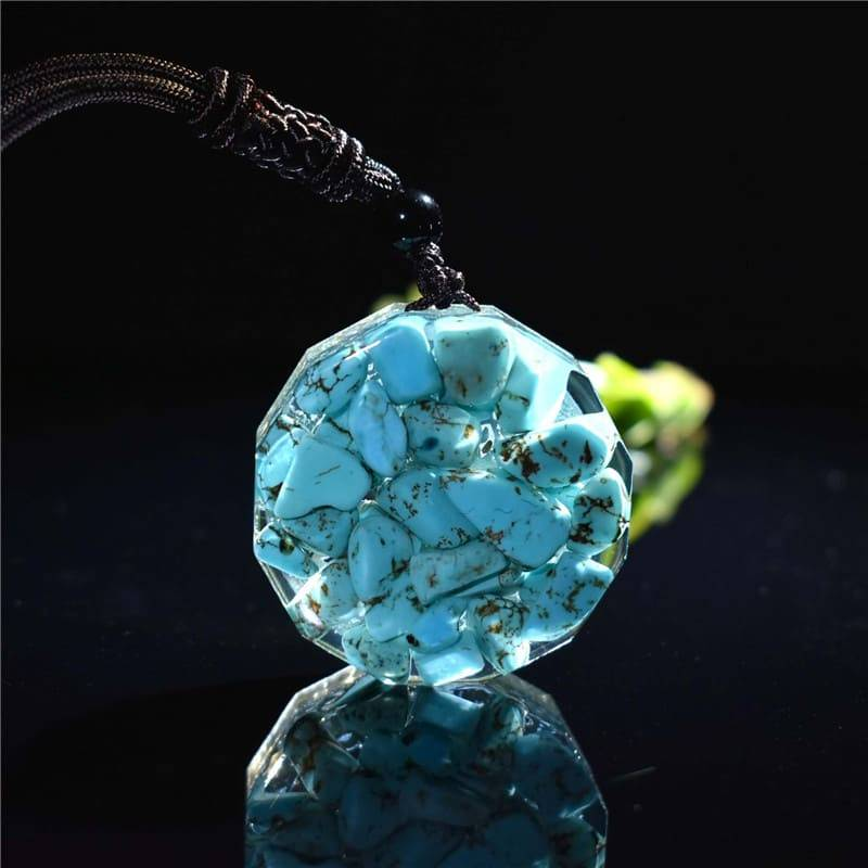 orgonite necklace, emf protection necklace, orgonite pendant