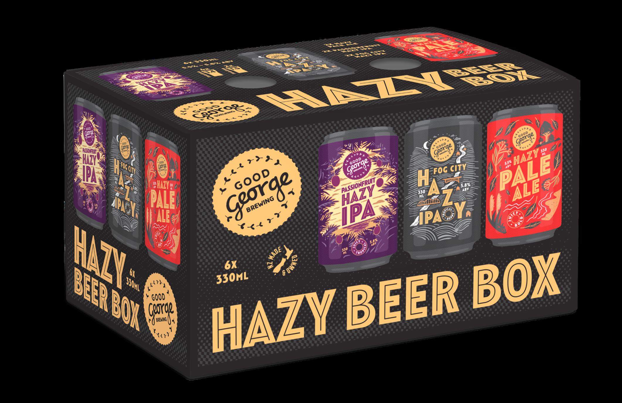 Good George Hazy Beer Box
