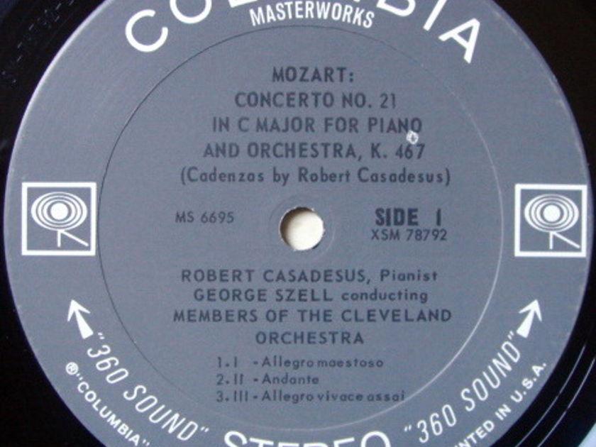 Columbia 2-EYE / CASADESUS-SZELL, - Mozart Piano Concertos No.21 & 24, NM!