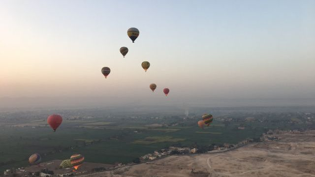 Hot air ballooning in Luxor