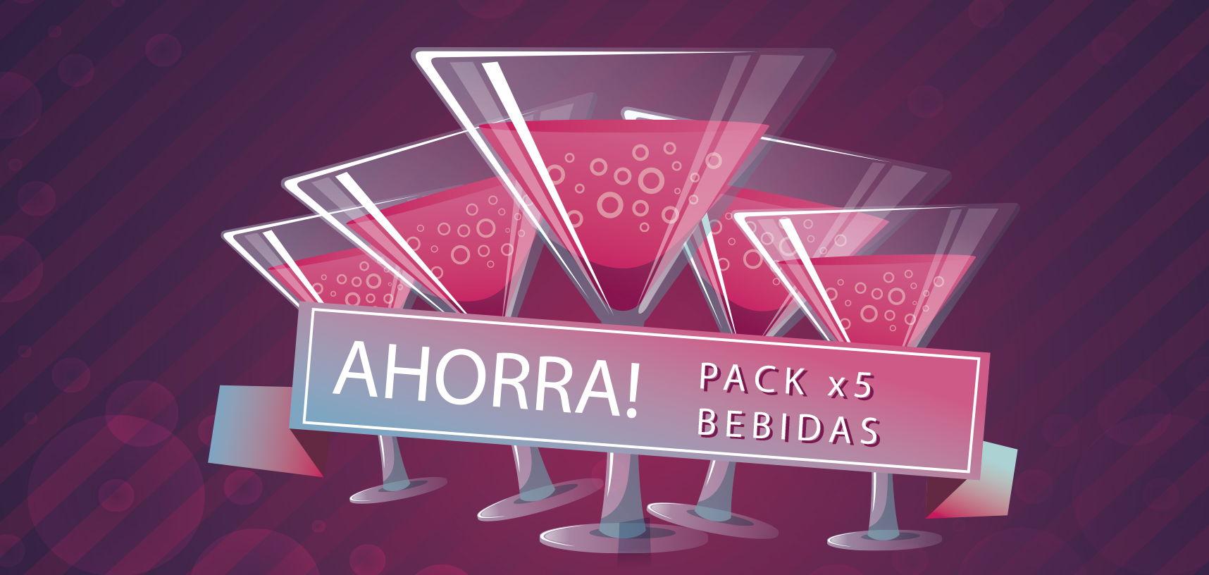 Pack bebidas discotecas Ibiza, pack ahorro 5 copas ushuaia