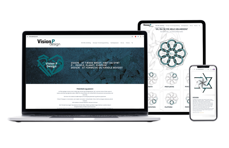 Hjemmesidedesign Vision P Design