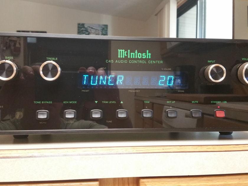 McIntosh C45 Preamp. Dual analog 5.1. Excellent cond.