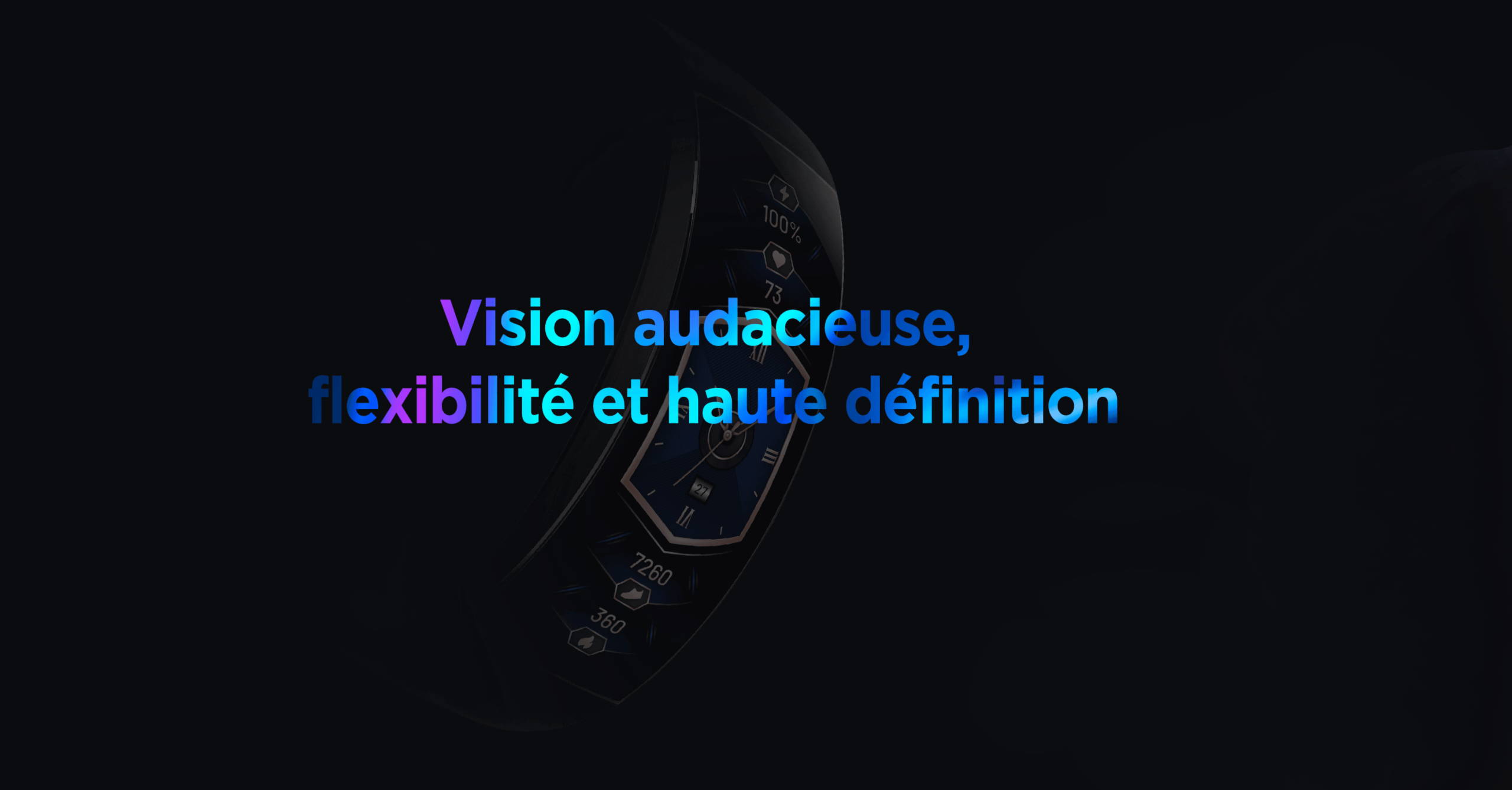 Amazfit X - Vision audacieuse,flexibilité et haute définition.