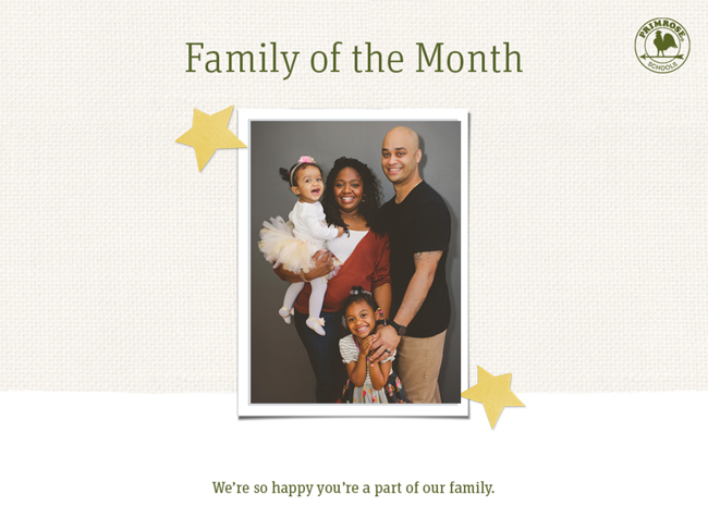 degrazia family of the month