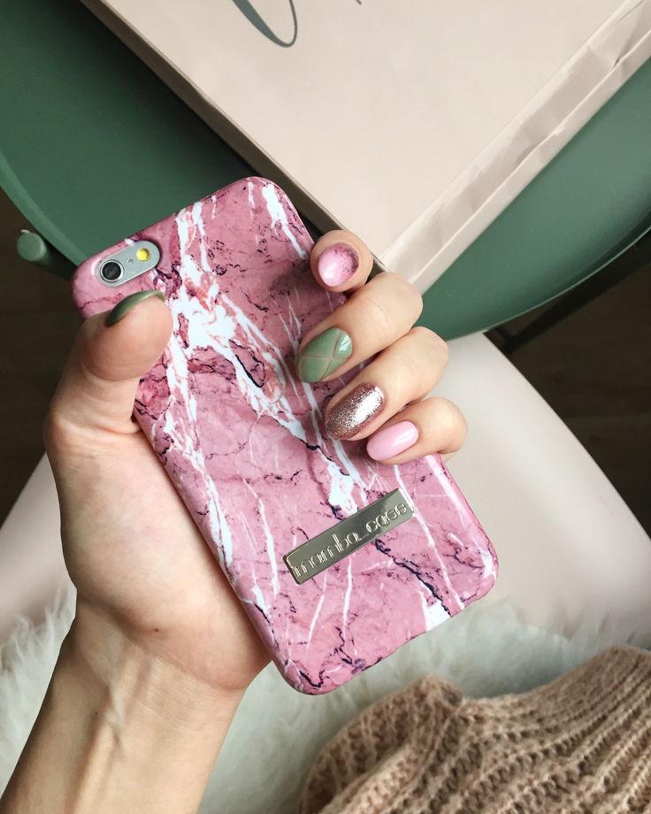 """""""Пыльно-розовый"""" чехол для айфона 6/6S"""