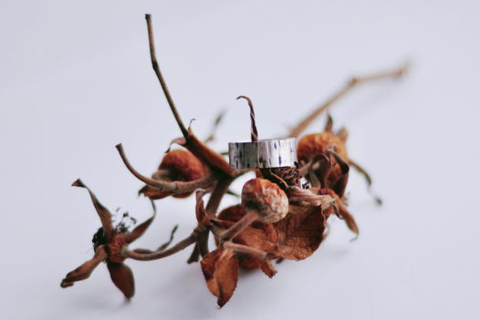 Серебряное кольцо с текстурой