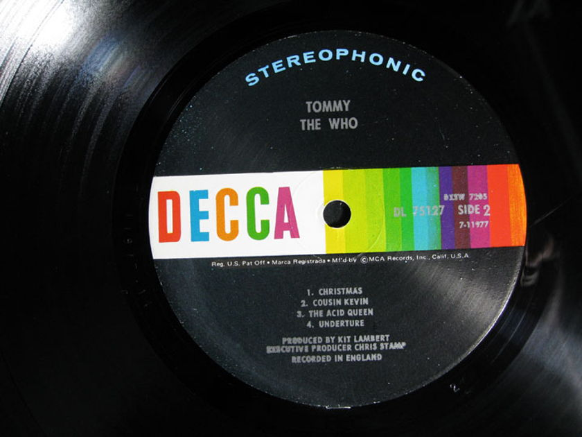 The Who - Tommy - Original  Pinckneyville Pressing - 1969 Decca DXSW 7205