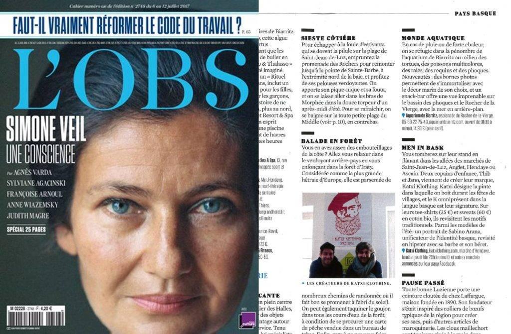 KATXI KLOTHING marque vêtements basque article magazine L'OBS