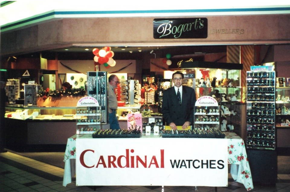 richard when he first opened bogarts jewellers