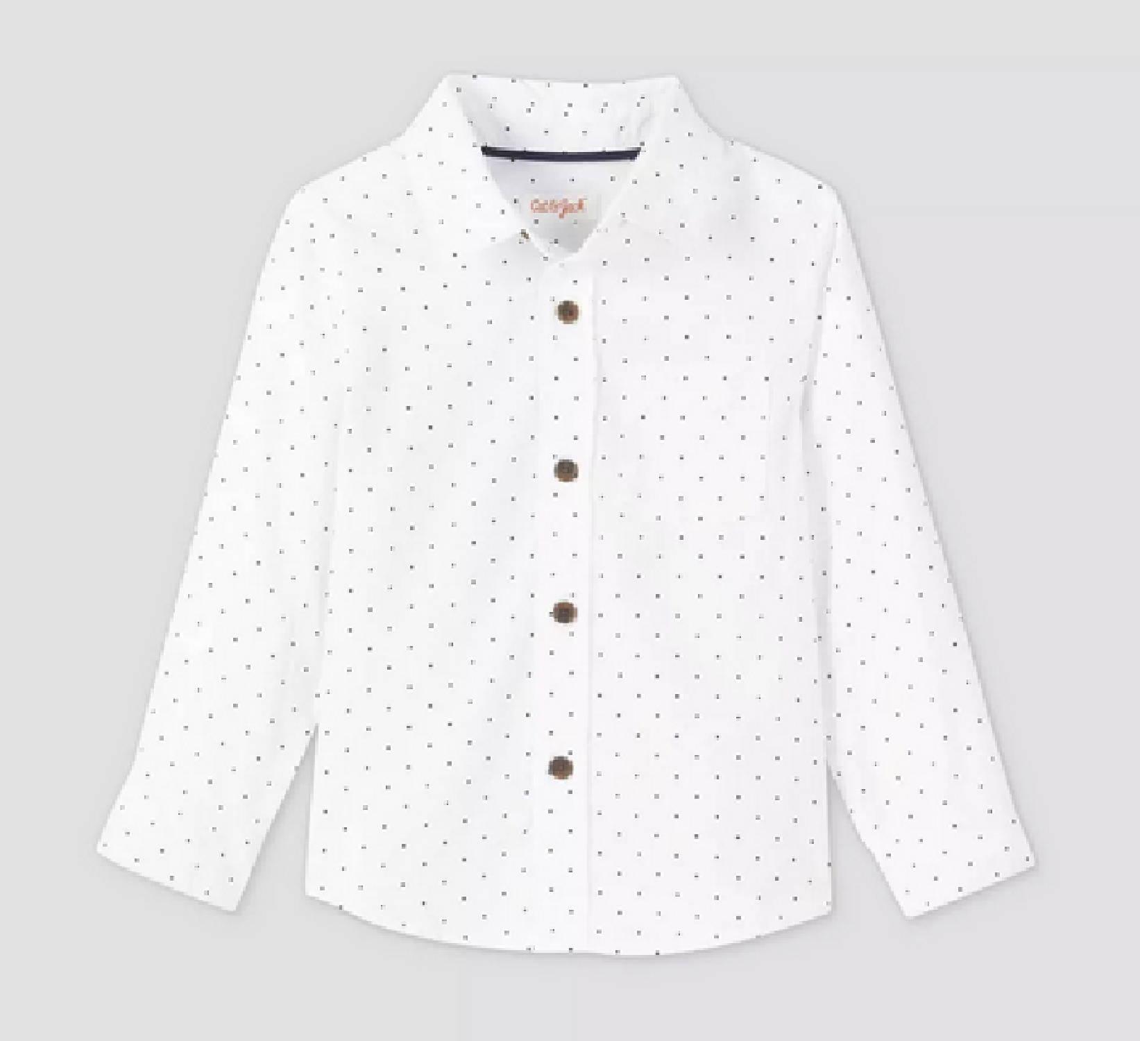 Ring Bearer White Polka Dot Shirt