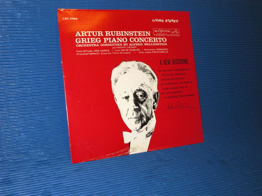 "GRIEG/Rubinstein - - ""Piano Concerto & Encores"" -  RCA 1962? TAS Sealed"