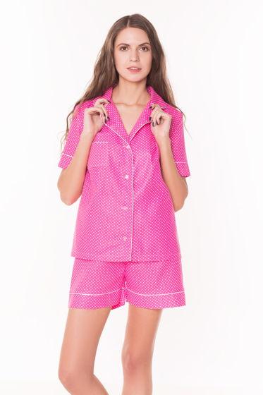 """Пижама хлопковая """"Горох на розовом"""""""