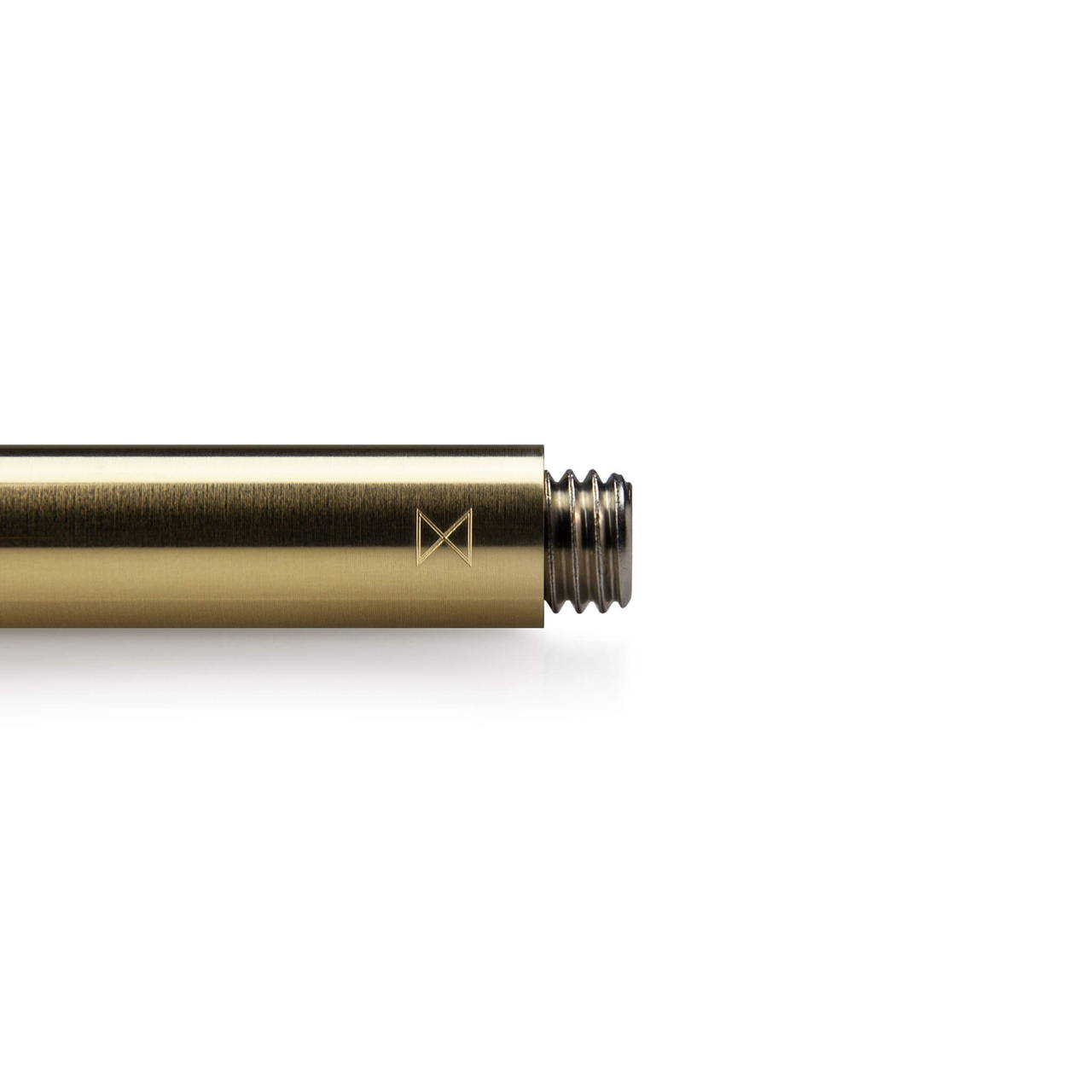 Brass Travel Pen Monogram end detail