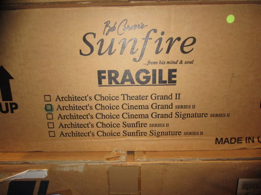 Sunfire Cinema Grand Architect's Choice Series II