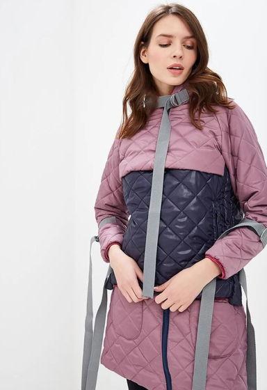 Стильная курточка стеганая пудровая