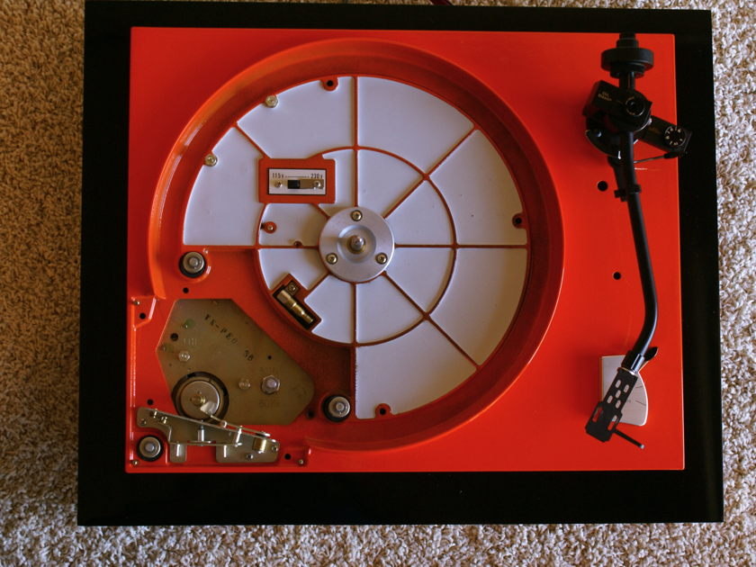 Pioneer  PL-41 Orange custom with Jelco Arm and RCA cable