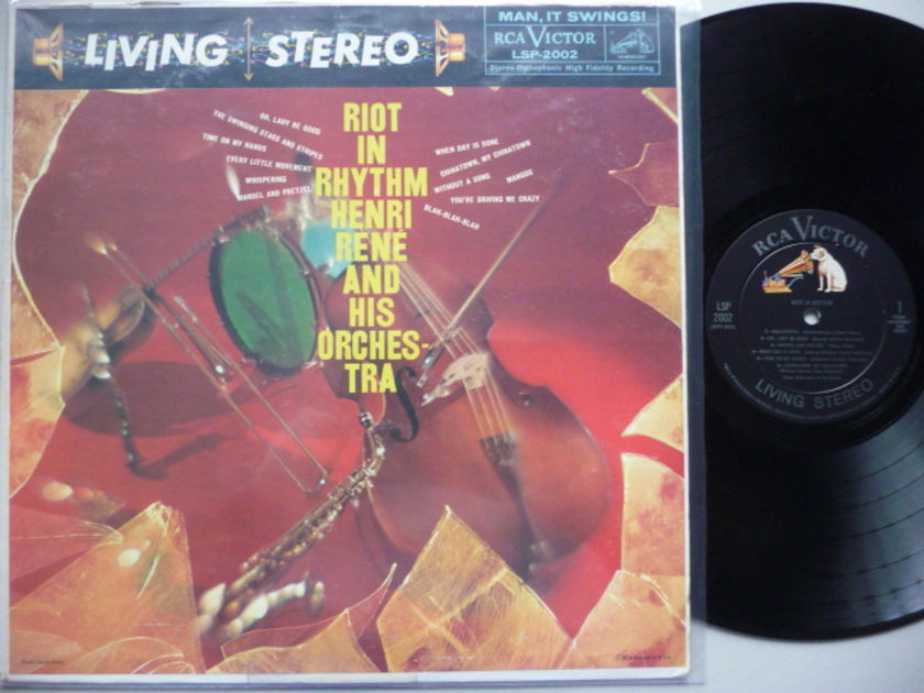 RIOT IN RHYTHEM - HENRY RENE AND HIS ORCH. RCA LP EXCEL