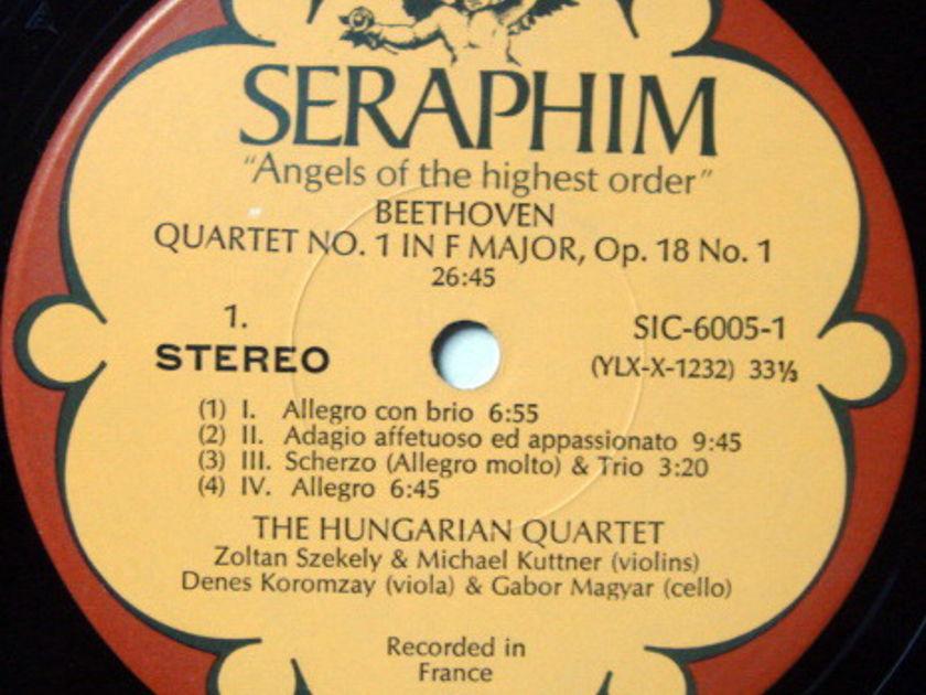 EMI Angel Seraphim / HUNGARIAN QT, - Beethoven The Early Quartets, MINT, 3LP Box Set!